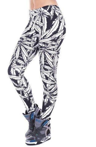 Fashion Weed Stripes Fitness leggings RLW1517