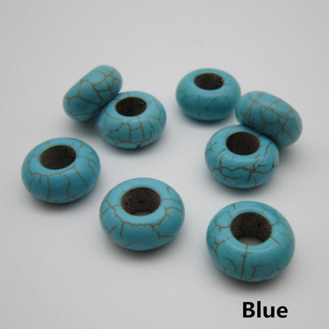 10PCS/Lot Turquoise hair braid dreadlock Beads RLW2275