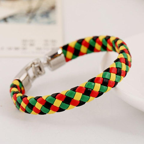 Cuff Lady Fashion Rasta Bangle  Bracelet RLW1003