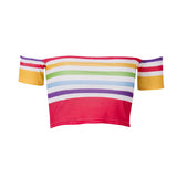 Jamaican style Off Shoulder ladies Crop Top RLW1918