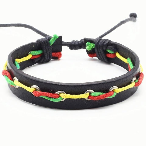 Multicolor Casual Vintage Handmade Leather Bracelet RLW1281