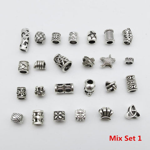 25Pcs/Lot mix set hair braid dreadlock beads RLW2423
