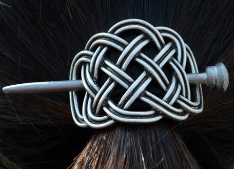 Large Celtics Knots Rose Hairpins Viking Hair Clip RLW2040