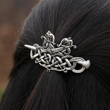 Large Celtics Knots Viking Runes Double Heads Dragons Hairpin RLW989