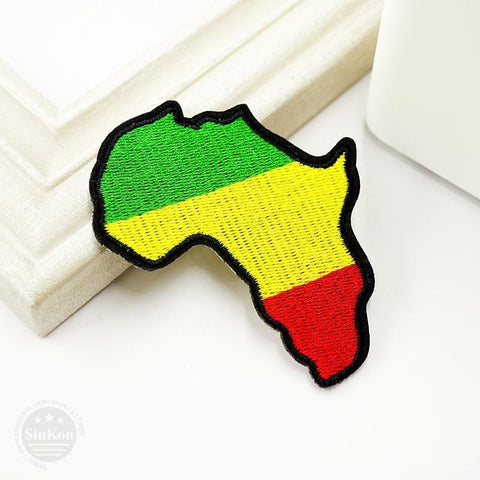 Africa Rasta Ethiopian Flag Patch Embroidered Iron on/saw on RLW971