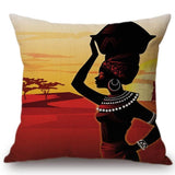 African Impression Exotic Decoration Style Sofa Throw Pillow Cover RLW2282