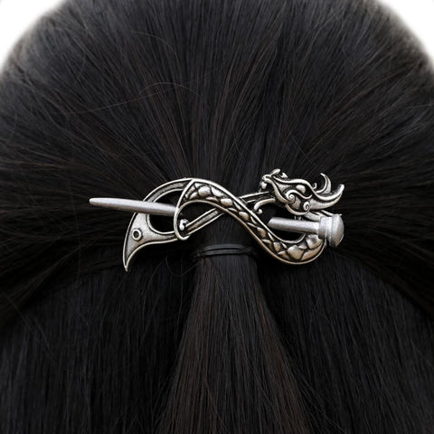 Viking Norse Dragon Infinite Hair Clip RLW2042