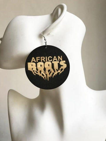 African roots wooden earrings RLW948