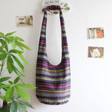Striped Sling Hippie Hobo Shoulder Bag RLW1092