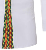 African Men Dashiki Print Button Up Shirt RLW2193