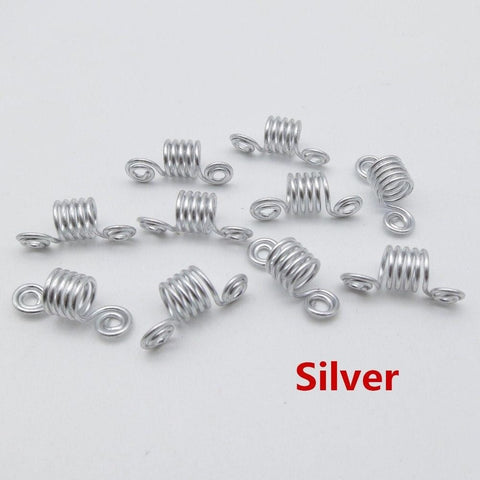 10pcs/pack golden/ Silver plated hair braid dreadlock beads RLW2416