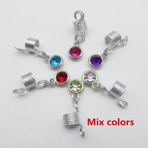 6Pcs/pack spiral wire wrapped hair braid dreadlock beads RLW2415