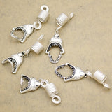 5pcs Shark jaw silver colour hair / dreadlocks beads RLW1943