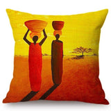 African Life Impression Sunrise View Cushion Cover RLW2281