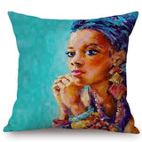 Fashion African Girl Lady Pillow Case RLW2284