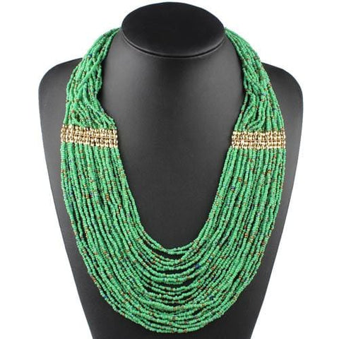 Small Beads Strand Multi Layer Necklace RLW2857