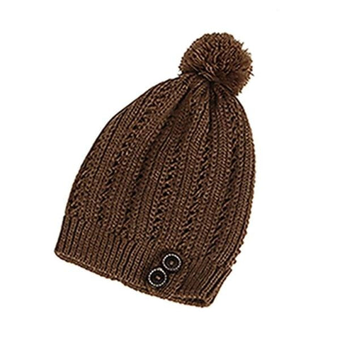 Cold Warm Winter Fur Knitted Hat Slouchy Beanie RLW2864