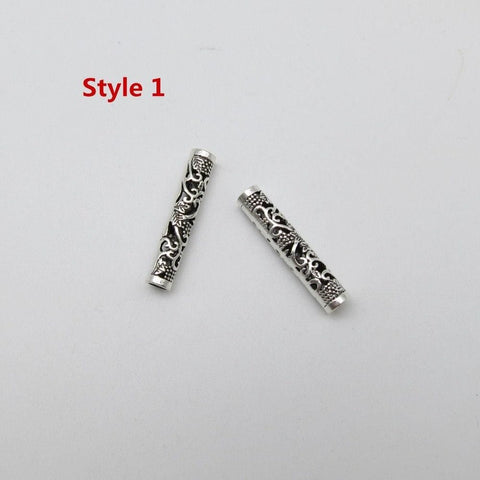 2pcs/pack Tibetan silver different 4 styles hair braid dreadlock bead RLW2424