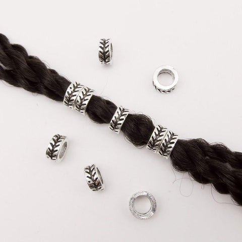 5pcs-20pcs Tibetan silver hair braid dreadlock beads RLW2421