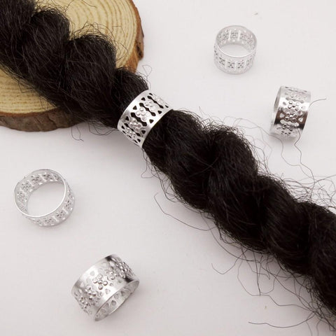 30pcs-50pcs Big Size Silver/Gold hair braid Dreadlock Beads RLW2419