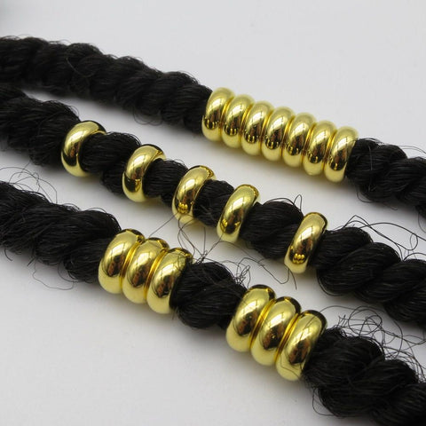 20pcs-50pcs Acrylic golden plated hair braid dreadlock Beads RLW2278