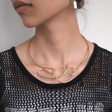 Geometric Alloy Chokers Necklace RLW2553