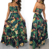 Strapless Crop Top and Long Skirt Set RLW2799