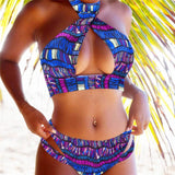 African Print Women Strapless Swiming Suit RLW1661