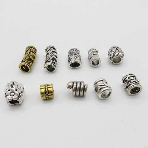 10Pcs/Lot mix metal set for hair braid dreadlock beads RLW2413