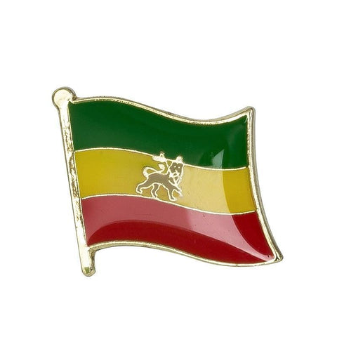 Ethiopia Flag Badge Clip/ Button RLW2483