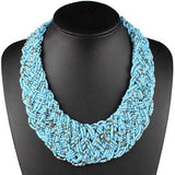 Short Handmade Woven Small Beads Necklace RLW2836