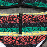 African Print Two-Pieces Bath Suits Bikini Set RLW1440