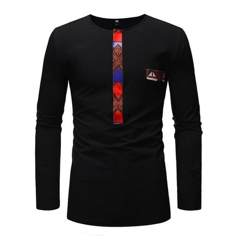 African Print  Long Sleeve Dashiki shirt RLW705
