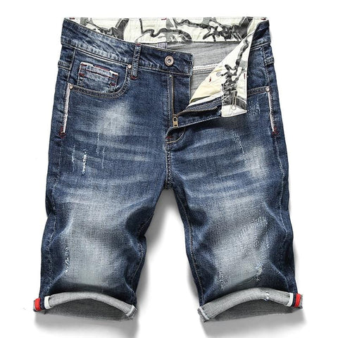 New Men's Stretch Elastic Denim Short RLW306