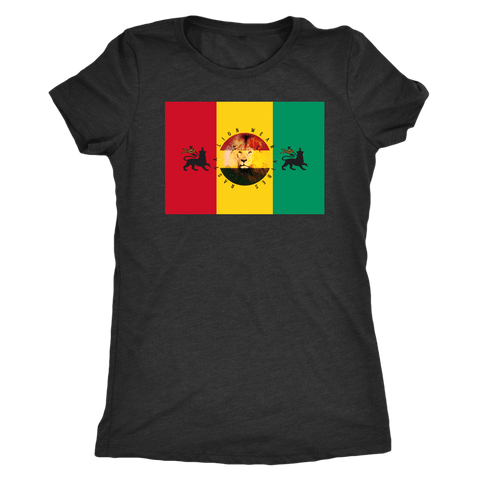 Rasta lion wear vibes women's t-shirt RLW1766