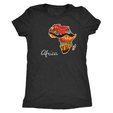 African Map Women's T-Shirt RLW945