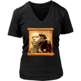 Marcus Garvey Women's V-Neck T-Shirt RLW1274