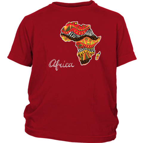 African Map Youth T-Shirt RLW606