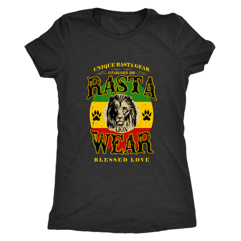 Rasta lion wear Ladies T-shirt RLW815