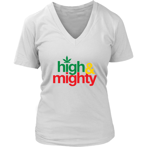 High and Mighty Women's V-Neck T-Shirt RLW813