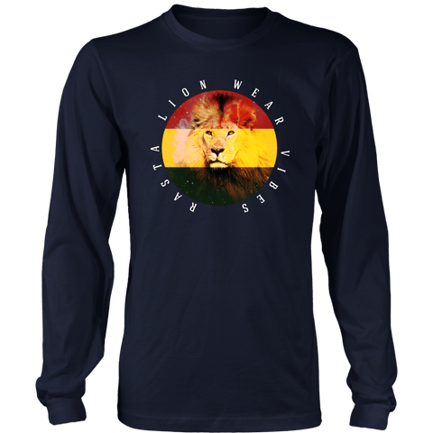 Rasta Lion Wear vibes Original Men's long sleeved T-shirt RLW545