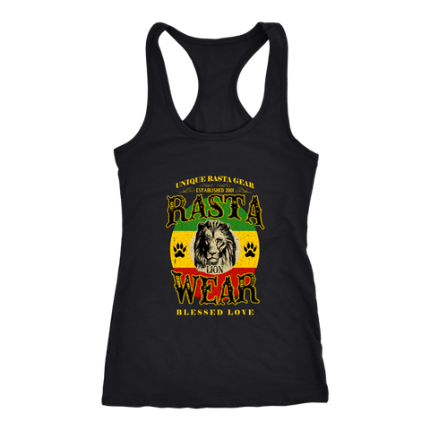 Rasta Lion Wear Original Next level racerback tank RLW816