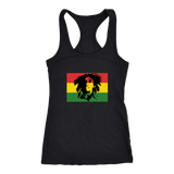 Bob Marley face with rasta colours Racerback Tank RLW414