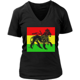 Cool Lion of Judah Women's V-Neck T-Shirt RLW557