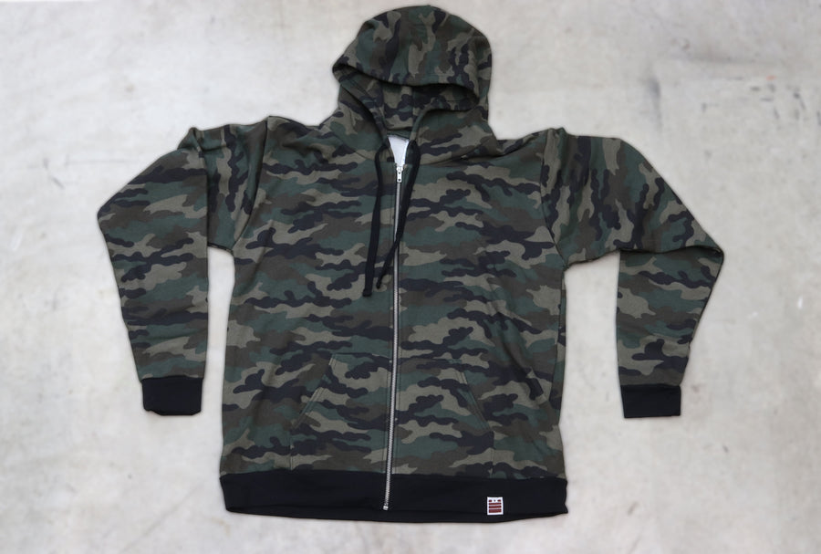 Made in USA Full Zip Hoodie - Camo - Garage Built Gear