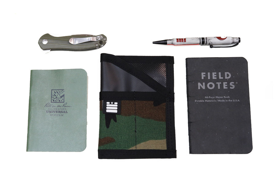 Field Note Pocket Caddy - Woodland/Orange - Garage Built Gear