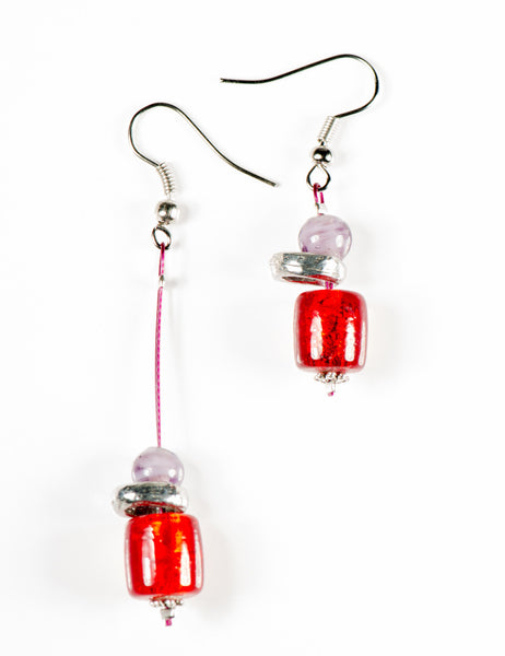The Red and Purple Oriane earring...Click to see the description