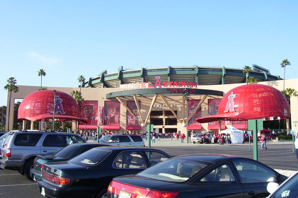 Angel Stadium of Anaheim - Los Angels Angels of Anaheim Wall Graphic - Angels Gift - Man Cave