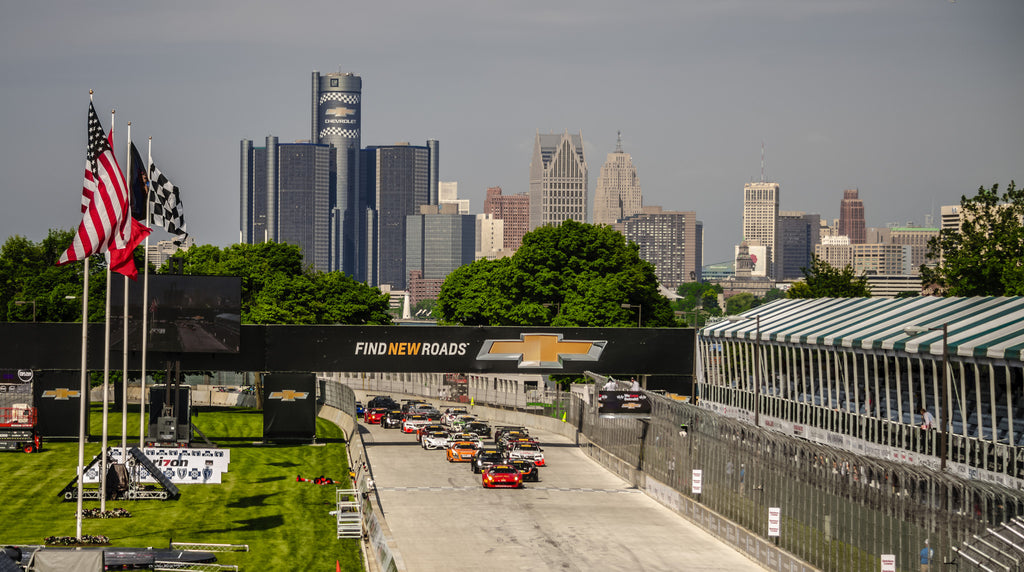"Detroit Belle Isle Grand Prix Adhesive Wall Graphic (24""x36"")"