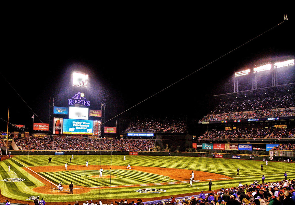 "Coors Field Panoramic Canvas Wrap (20""x16""x1.5"")"